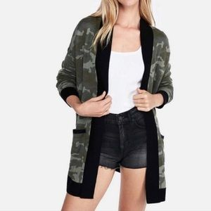 Express camo camouflage print cardigan small